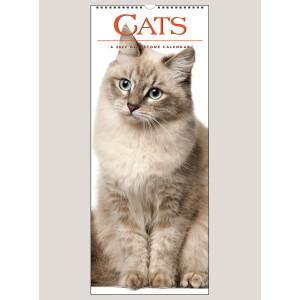 """2022 Cats 9"""" x 22"""" VERTICAL WALL CALENDAR"""