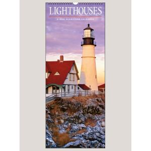 """2022 Lighthouses 9"""" x 22"""" VERTICAL WALL CALENDAR"""