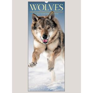 """2022 Wolves 9"""" x 22"""" VERTICAL WALL CALENDAR"""