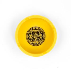 Yellow Silicone Dose Logo Ashtray