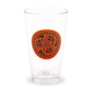 Red & Black Tri Dose Pint Glass