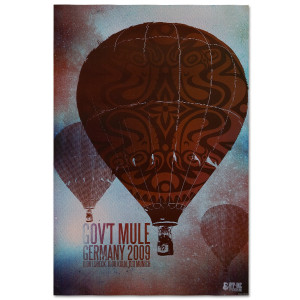 "Gov't Mule 2009 ""By A Balloon"" Germany Event Poster"