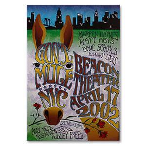 Gov't Mule Apr 2002 New York City Beacon Theatre Event Poster