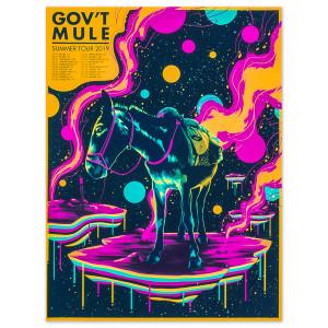 Gov't Mule Summer Tour 2019 Poster - 1st Leg