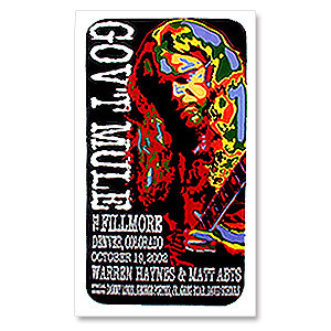 Gov't Mule 2002 Denver Fillmore Event Poster