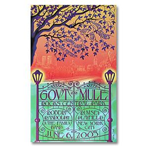 Gov't Mule 2003 Central Park New York City Event Poster