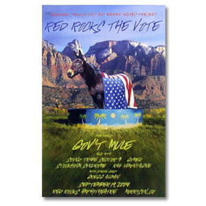 Gov't Mule Sept 2004 Red Rocks The Vote Event Poster