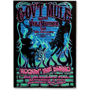 Gov't Mule 2006 McCarren Pool New York City Event Poster