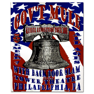 Gov't Mule 2008 Tower Theatre Philly Event Poster