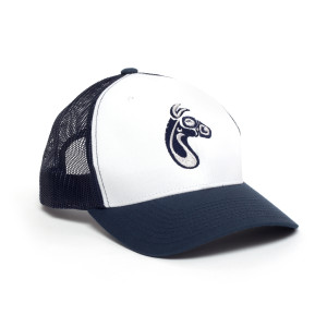 Blue/White Mulehead Logo Trucker Hat