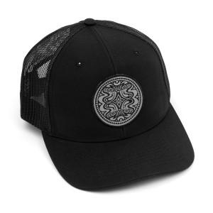 Black & Silver Dose Trucker Hat