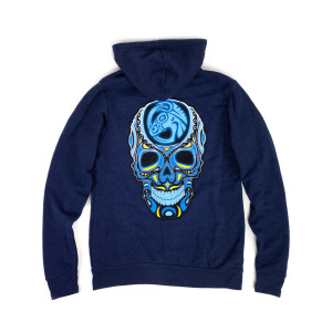 Skull Logo Zip Hoodie