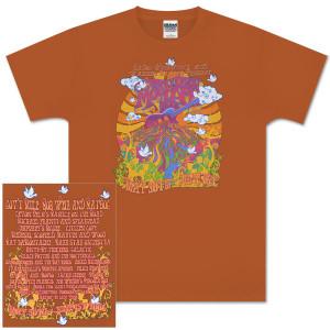 2008 Mountain Jam Guitar Logo Orange T-Shirt