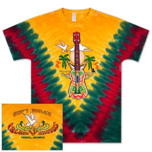 Gov't Mule Island Exodus 2013 IV Negril, Jamaica Yellow Tie Dye T-Shirt