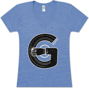 Record Arm Ladies V-Neck T-Shirt