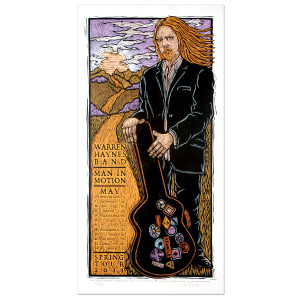 Warren Haynes Band 2011 Spring Tour Poster