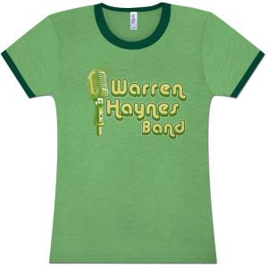 Warren Haynes Band Microphone Logo Ladies T-Shirt