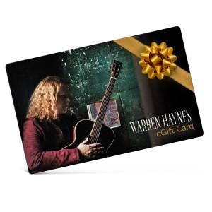 Warren Haynes Electronic Gift Certificate