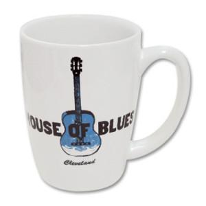 House of Blues White Guitar Mug - Cleveland