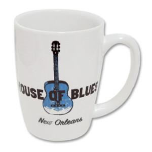 House of Blues White Guitar Mug