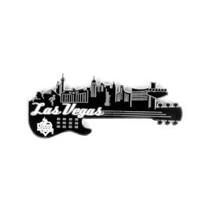Guitar Skyline Magnet - Las Vegas