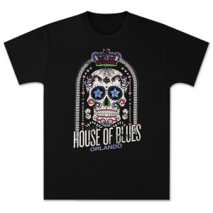 House of Blues Crown Skull Men's T-Shirt - Orlando