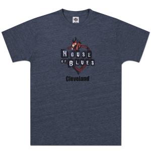 Navy Heart Logo T-shirt - Cleveland