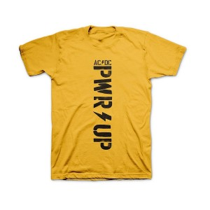 Vertical POWER UP Yellow T-shirt