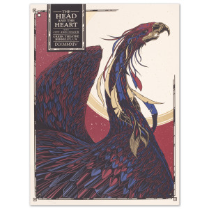 The Head and The Heart Greek Theatre 9/5/14 Poster