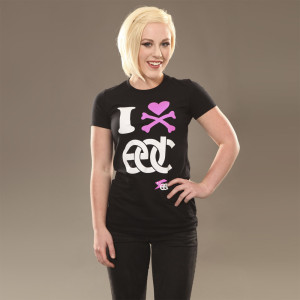 EDC I Heart  Junior Tee Black