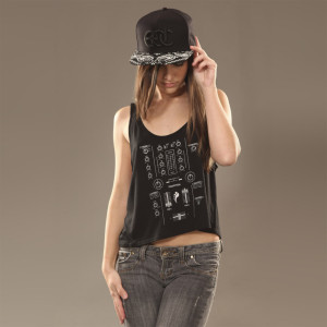 Insomniac Mixer Jr Crop Tank Black