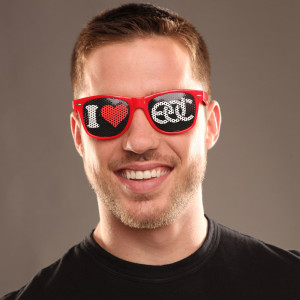 I Heart EDC Sunglasses Red