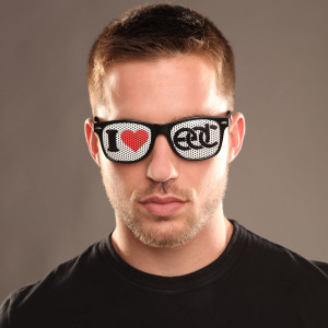 I Heart EDC Sunglasses Black