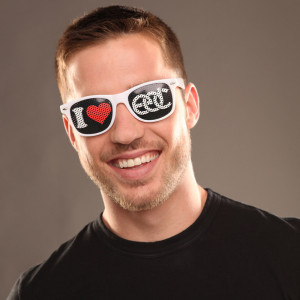 I Heart EDC Sunglasses White