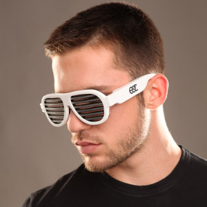 EDC Sound Reactive LED Sunglasses White