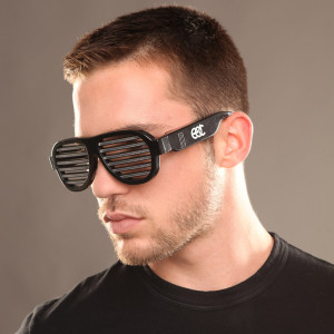 EDC Sound Reactive LED Sunglasses Black