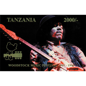 Tanzania Woodstock 25th Anniversary Stamp