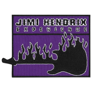 Jimi Hendrix Flaming Guitar Patch