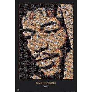 Jimi Hendrix Mosaic Postcard