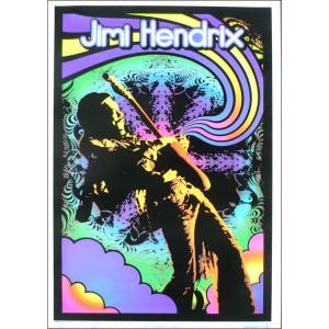 Jimi Hendrix Guitar Solo Blacklight Poster
