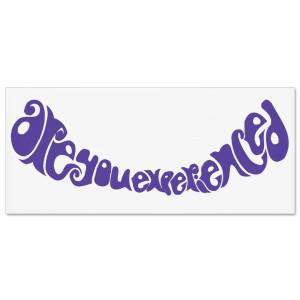 Jimi Hendrix Rub On Are You Experienced Sticker (Purple)