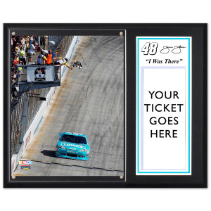 Jimmie Johnson 2012 Dover Race Win 12x15 Plaque w/ 8x10 Photo & Ticket Holder