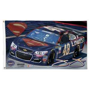 Jimmie Johnson #48 Superman 3' x 5' Deluxe Flag
