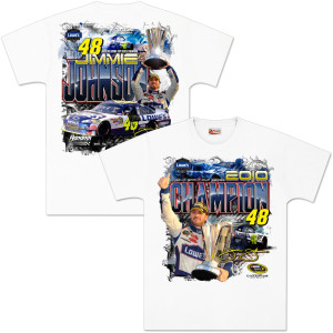 Jimmie Johnson 2010 Sprint Cup Champ Victory T-Shirt