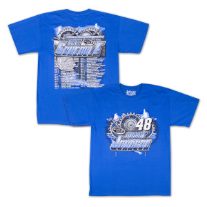 Jimmie Johnson - Chase Authentics Adult 2015 Schedule Tee