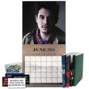 John Mayer 2014 Wall Calendar and Tour Notebook Combo