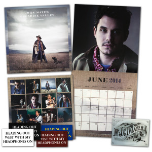John Mayer 2014 Paradise Valley Wall Calendar Plus FREE Stickers