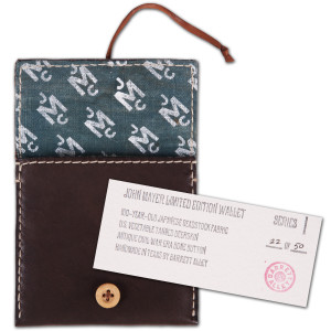 Barrett Alley X John Mayer Wallet Brown/Blue