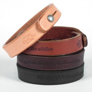 "John Mayer ""Wildfire"" Leather Wristband"