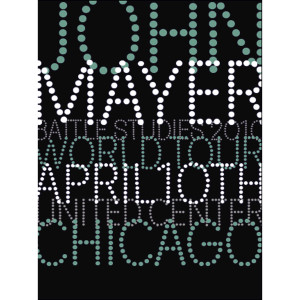 John Mayer Chicago, IL Serigraph by House Industries